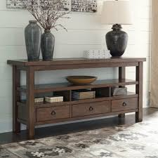 Ashley Sofa Table by Ashley Furniture Campfield Console Table In Brown Local