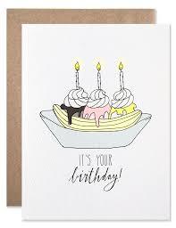 happy birthday banana split greeting card hartlandbrooklyn