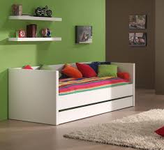 canapé avec lit tiroir lit banquette contemporain coloris blanc elara lit enfant