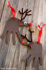 handprint reindeer ornaments real housemoms
