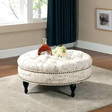Padded Ottomans Articles With Vanderbilt Tufted Padded Hinged Storage Ottoman