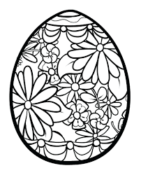 printable coloring pages spring free activities easter egg