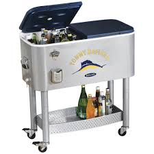 Outdoor Cooler Cart On Wheels by Fingerhut Tommy Bahama Rolling Party Cooler