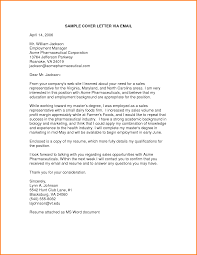 Application Cover Letter For Resume cover letter through email