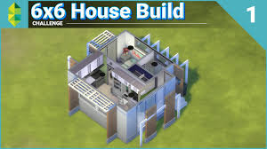6x6 house build challenge part 1 of 2 sims 4 youtube