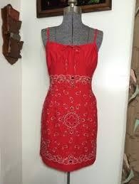black label gunne sax bandana empire waist halter dress with
