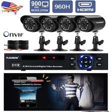 Outdoor Home Audio Systems 4ch 960h Hdmi Cctv Dvr Home Outdoor 900tvl Camera Video Recorder