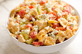 chicken pasta salad buffalo chicken pasta salad