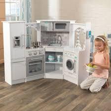 cuisine kidkraft blanche cuisine enfant en bois corner play kitchen avec sons et