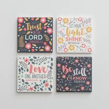 scripture gifts scripture ceramic coasters set of 4 dayspring