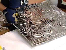Weekend Projects How To Install A Tin Tile Backsplash HGTV - Tin tile backsplash