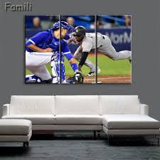 popular yankees canvas buy cheap yankees canvas lots from china 3pcs new york yankees modern wall art for home decoration picture paint on canvas prints painting
