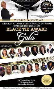 women of virtue walking in excellence black tie award galla