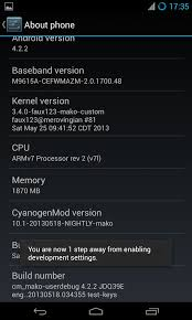 developer mode android how to enable developer options and usb debugging in android 4 2