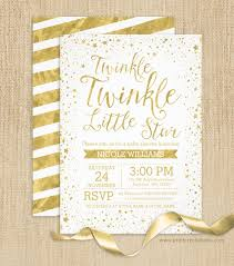 twinkle twinkle baby shower invitations gold twinkle twinkle baby shower invitations print