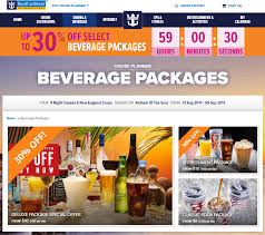 spotted royal caribbean offering up to 30 off drink packages for
