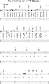 we wish you a merry christmas chords sheet music and tab for