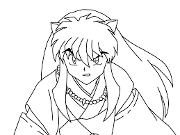 anime coloring pages inuyasha coloringstar