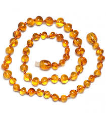 baby bead necklace images Handmade baltic amber teething necklace for baby safety knotted jpg