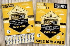garage sale flyer poster 3 illustrations creative market