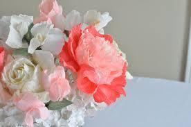 paper flower centerpieces and gardenia paper flower wedding centerpiece