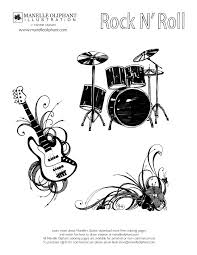 clip art rock and roll coloring pages mycoloring free printable