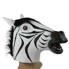 vogue halloween unicorn horse zebra wolf head cosplay party prop