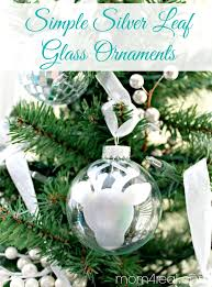 simple silver leaf glass ornaments a giveaway 4