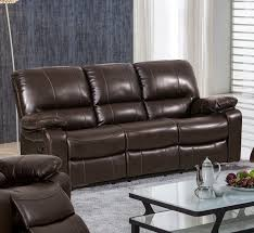 gray reclining sofa ashley furniture austere faux leather reclining sofa in gray
