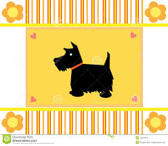 greeting card scottie royalty free stock images image 12078019