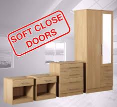 Mirrored Bedroom Furniture Set Zilato 4 Piece Mirrored Bedroom Furniture Set 3 Drawer Wardrobe