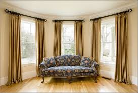 Bay Window Curtains For Living Room Decoration Window Treatment With Window Drapes And Glass Windows
