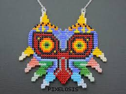 bead mask handmade seed bead majora s mask necklace by pixelosis on deviantart