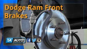 dodge ram 1500 brake pads how to replace install front brakes pads rotors 2006 08 dodge ram