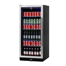 cheap glass door bar fridge amazon com kingsbottle 300 can beverage cooler stainless steel