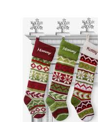amazon com personalized knit christmas stockings green red