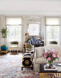 the manhattan living room of michael s smith and james costos is