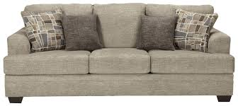 benchcraft barrish contemporary queen sofa sleeper with flared