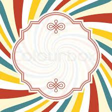 Starburst Design Clip Art Swirl Background With Vintage Frame And Divider Line Swirl