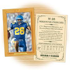 custom football cards vintage 11 series starr cards