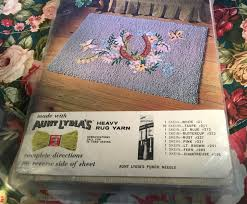 aunt lydia u0027s rug pattern vintage punch needle floral with