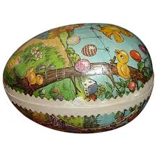 paper mache easter eggs vintage german paper mache easter egg candy container sold ruby