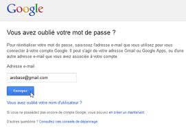 changement adresse si e social changer ou récupérer mot de passe gmail