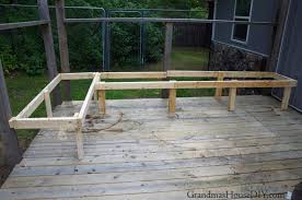 Diy Wooden Garden Bench by Outdoor Bench For Our Deck Diy Wood Working Project Tutorial