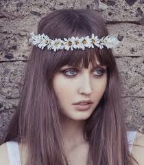 white flower headband eterie chain flower headband headpiece