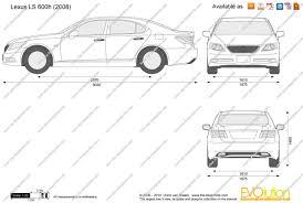lexus ls 460 length the blueprints com vector drawing lexus ls