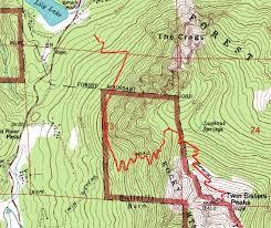 Twin Peaks Map Tiffinyepiphany Peakbagging Tales Twin Sisters East U0026 West
