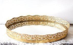 Gold Vanity Mirror Gold Vanity Tray Foter