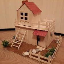 popsicle stick money box popsicle stick houses house and banks