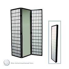 Home Decoraters Home Decorators Collection 5 85 Ft Black 3 Panel Room Divider
